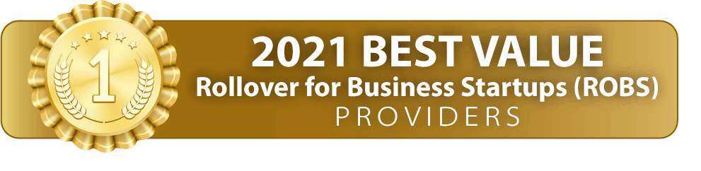 """small gold banner with print """"2021 best value"""""""
